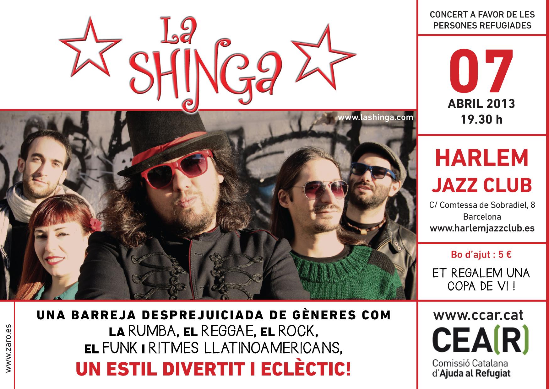 Torna El Concert Solidari Amb Les Persones Refugiades Amb La Shinga!