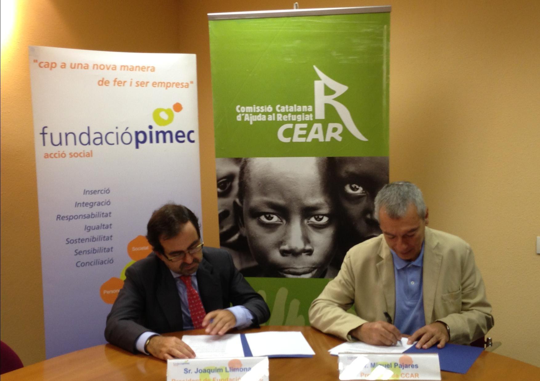 La Comissió Catalana D'Ajuda Al Refugiat I La Fundació PIMEC Signen Un Acord De Col·laboració