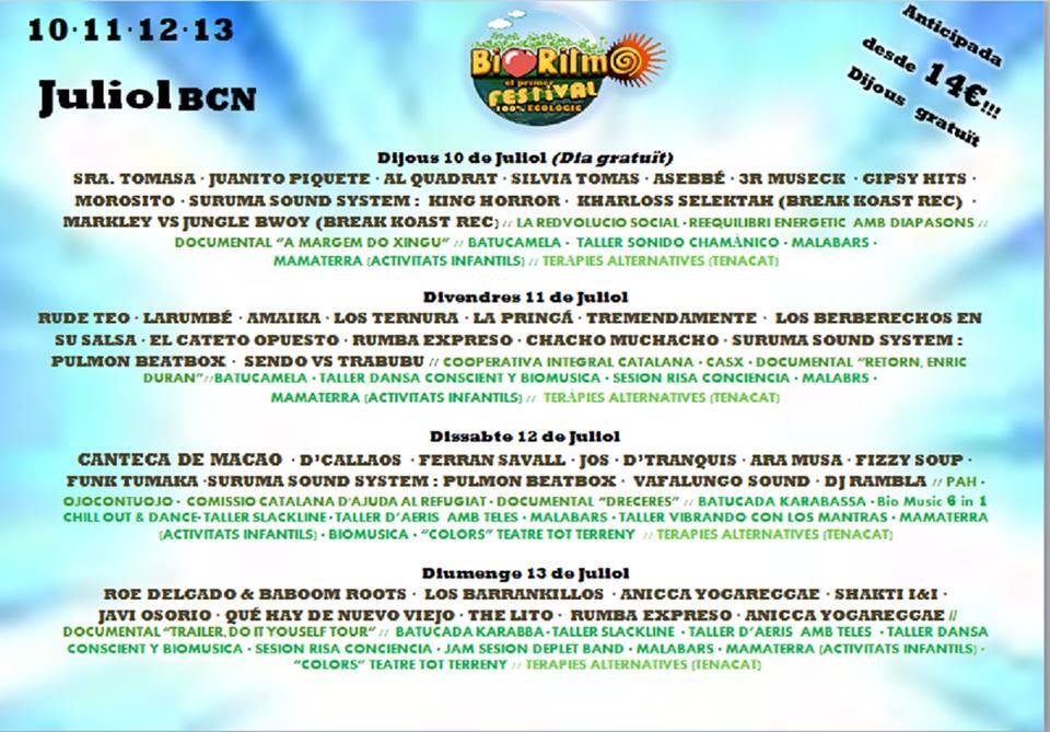 La CCAR Al Festival Bioritmo!