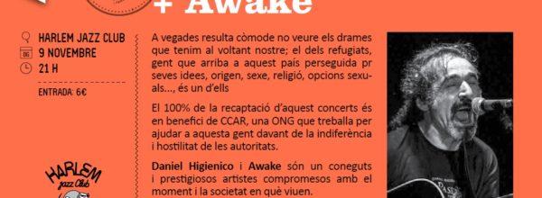 Concierto de Daniel Higiénico + Awake el domigo 9/11 solidario con las personas refugiadas!