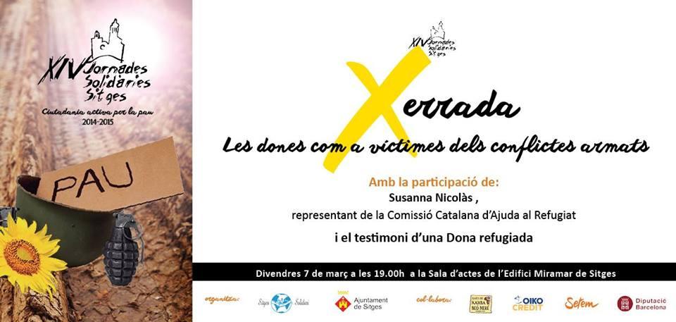 La Dona Com A Víctima En Els Conflictes: Xerrada A Sitges El 7 De Març