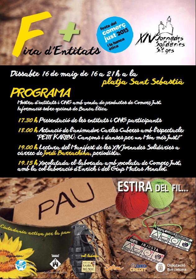 Fira D'entitats De Sitges, Dissabte 16 De Maig 16h-21h