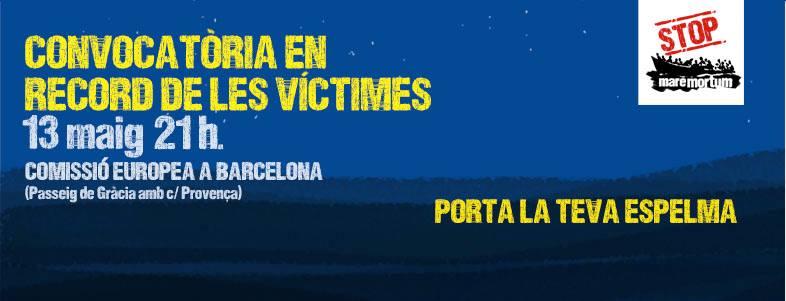 Convocatòria En Record A Les Víctimes Del Mar Mediterrani, 13 De Maig, 21.00