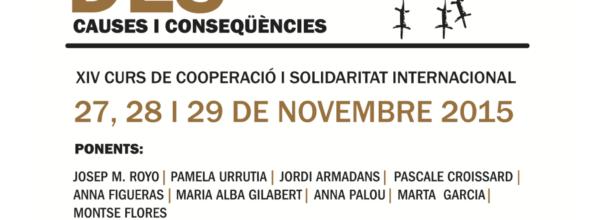 """XIVè Curs de Cooperació i Solidaritat Internacional """"Les persones refugiades: causes i conseqüències"""""""