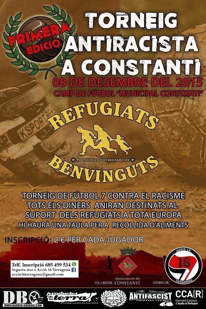 Torneig Antifascista A Favor De Les Persones Refugiades!