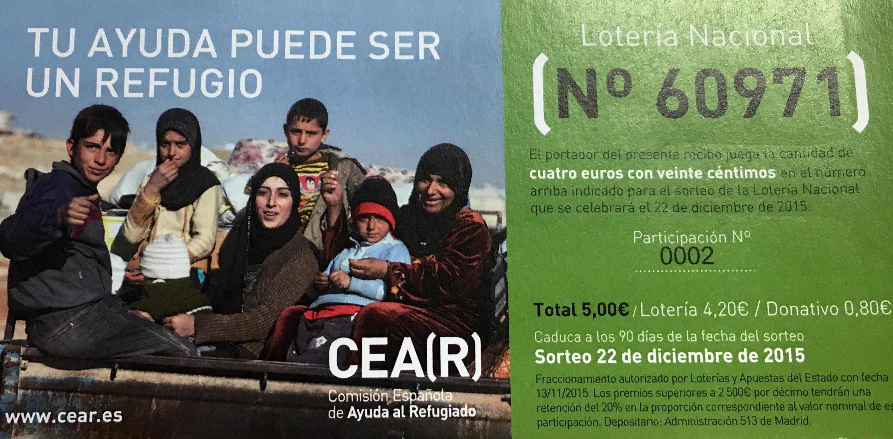 Fes Que Aquest Any Li Toqui La Loteria A Les Persones Refugiades!