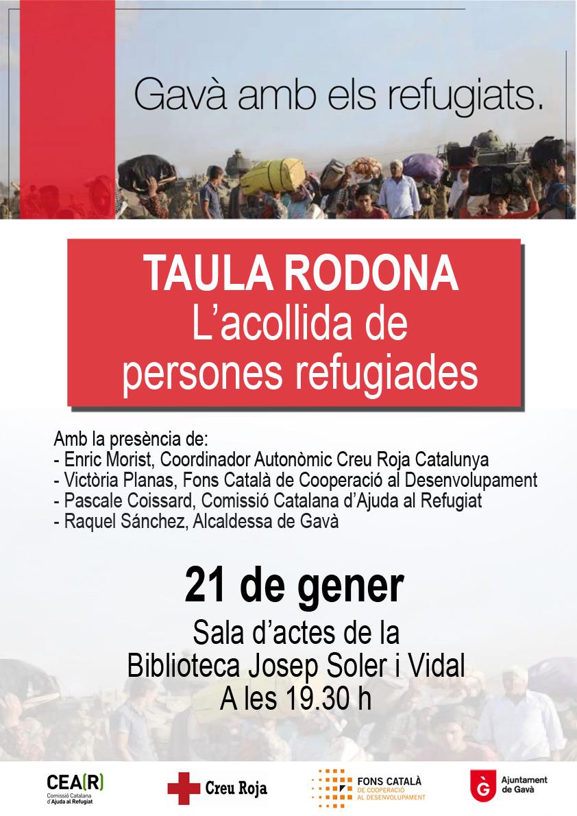 Taula Rodona: L'acollida De Persones Refugiades A Gavà