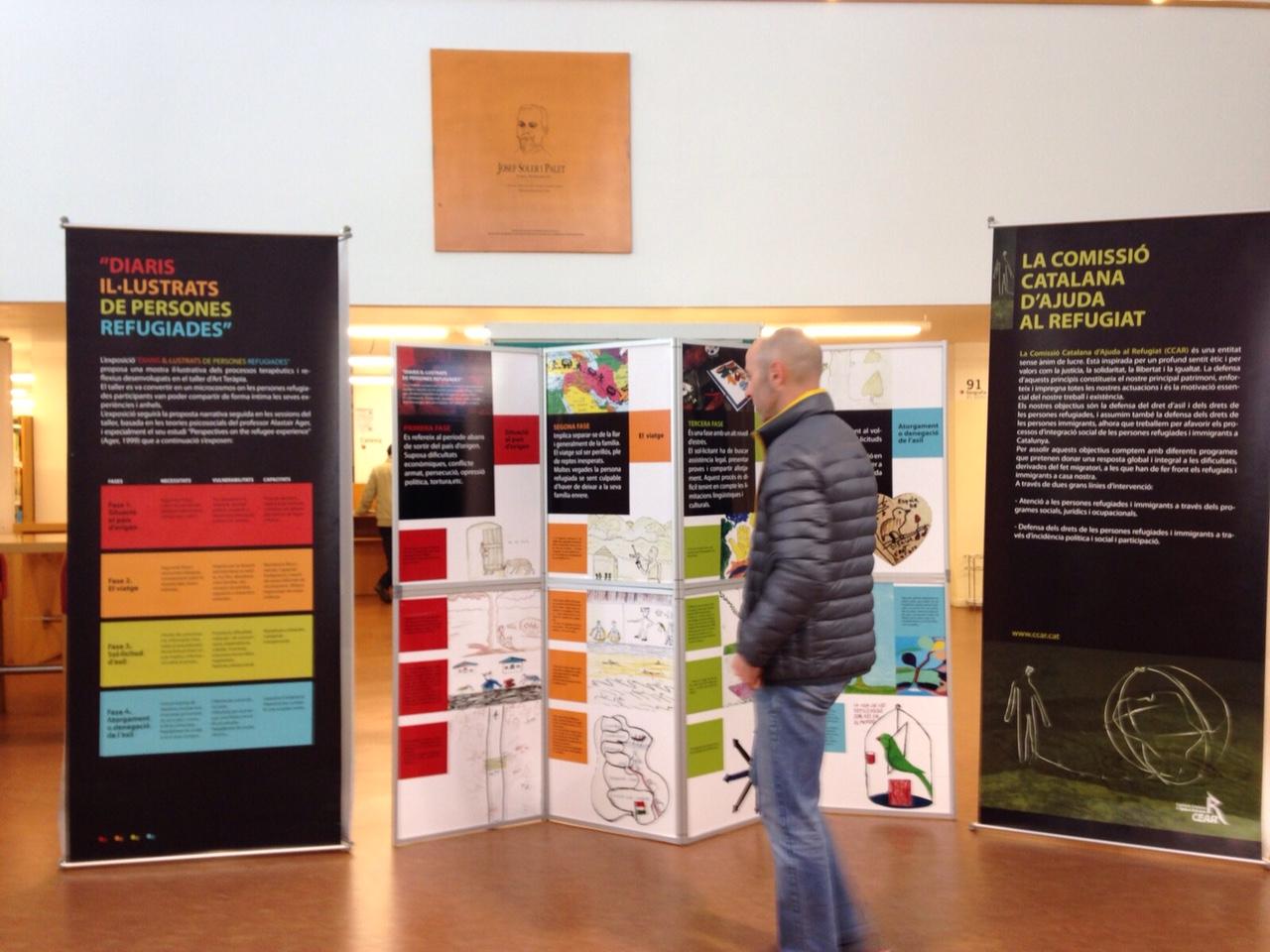 """Exposició """"Diaris Il·lustrats De Persones Refugiades"""" Al Centre Cívic Bonpastor"""