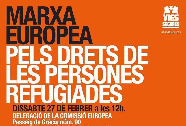 27F 12h Barcelona. Exigim VIES SEGURES Per A Les Refugiades I Migrants