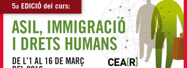 """5ª edición del curso """"Asilo, Inmigración y Derechos Humanos""""-plazas agotadas"""