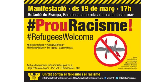Manifestació #19M, #ProuRacisme