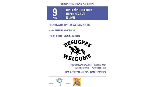 RefugeesWelcome: Curs Solidària A Artesa De Segre Aquest Dissabte