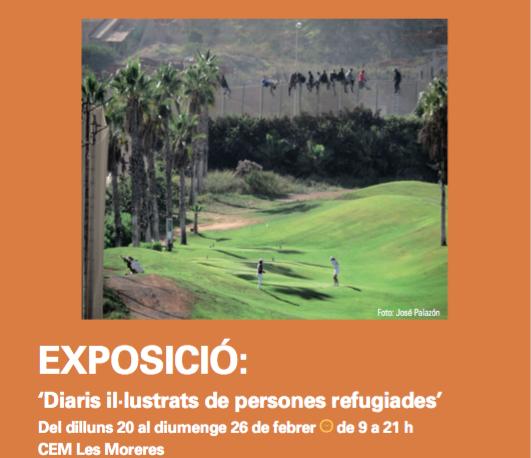 Exposició Diaris Il·lustrats De Persones Refugiades A Esplugues Del 20 Al 26 De Febrer