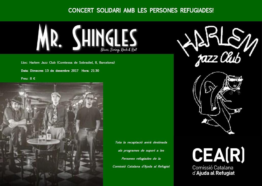 Concert Solidari: Mr. Shingles Al Harlem Jazz Club!