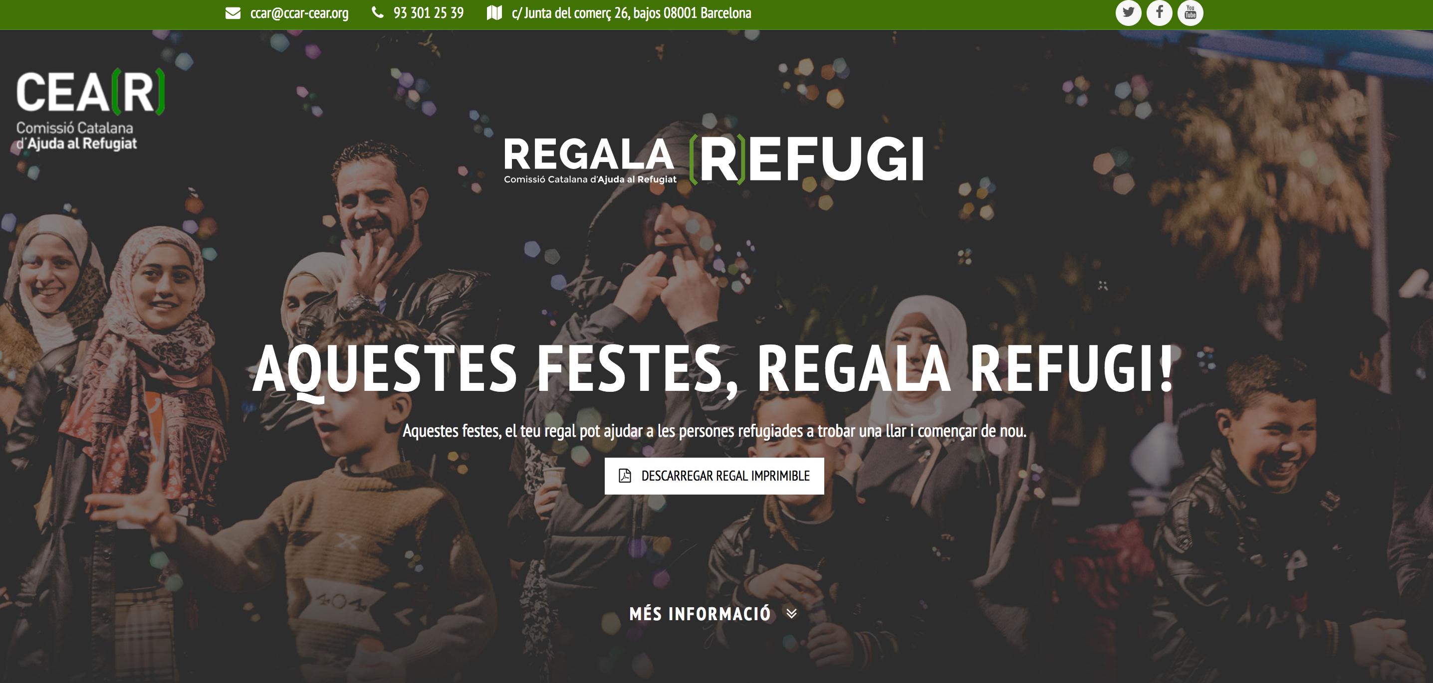 Aquestes Festes, Regala (R)efugi!