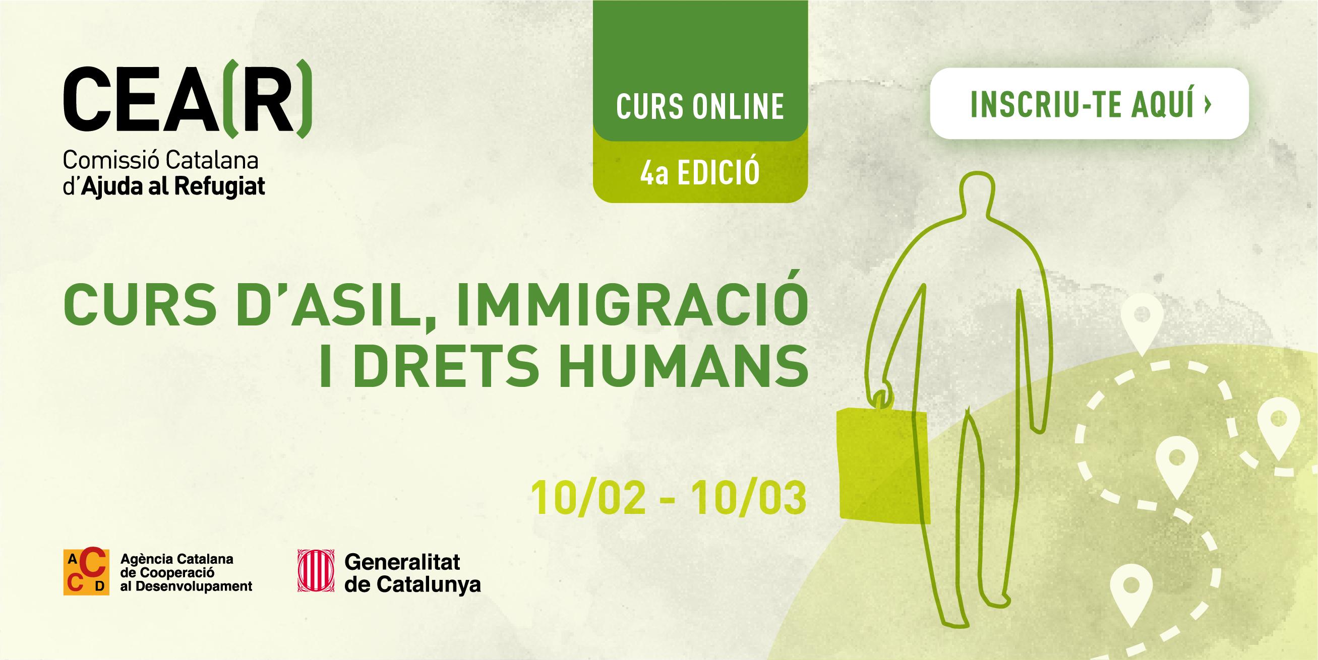 4a Edició CURS ONLINE – ASIL, IMMIGRACIÓ I DRETS HUMANS