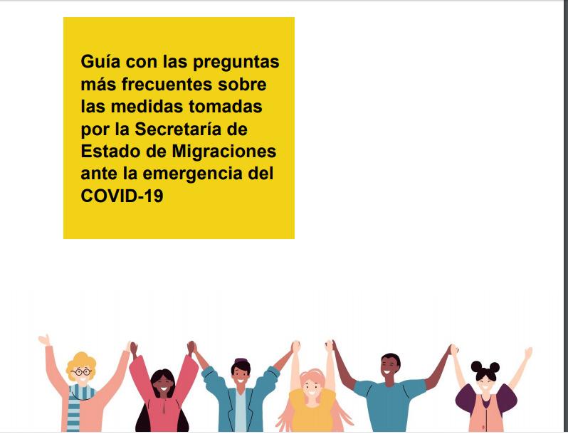Información Sobre Las Medidas Adoptadas Por La Secretaría De Estado De Migraciones Ante El COVID-19