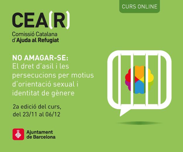 2a Edició CURS ONLINE: NO AMAGAR-SE. El Dret D'asil I Les Persecucions Per Motius D'orientació Sexual I Identitat De Gènere