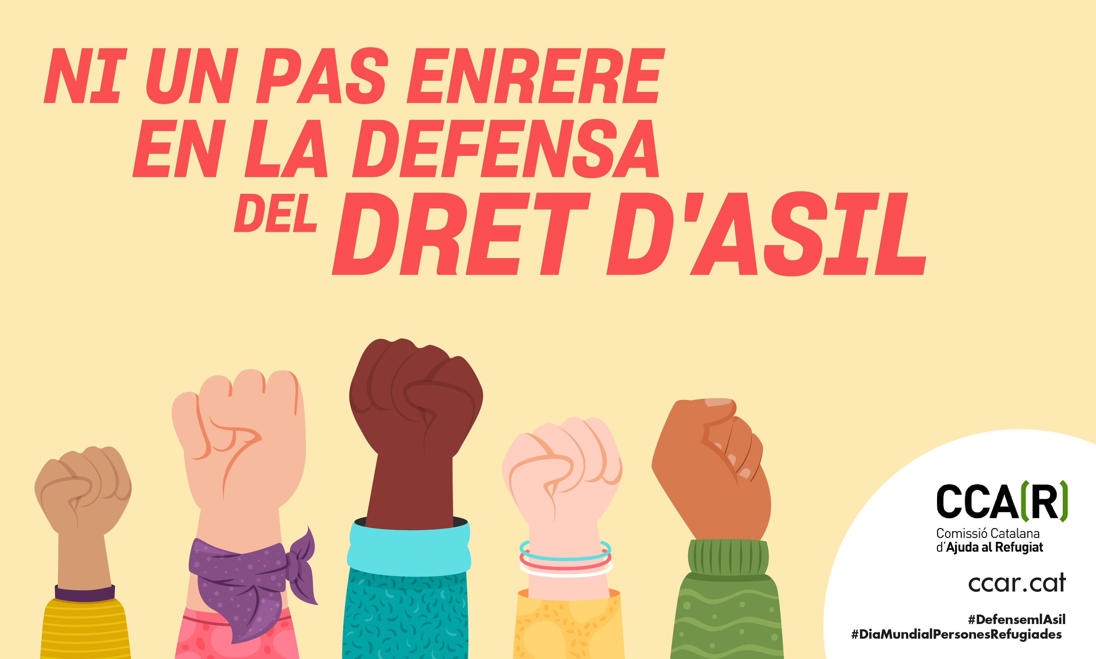 NI UN PAS ENRERE EN LA DEFENSA DEL DRET D'ASIL: PROPOSTES D'ACCIÓ