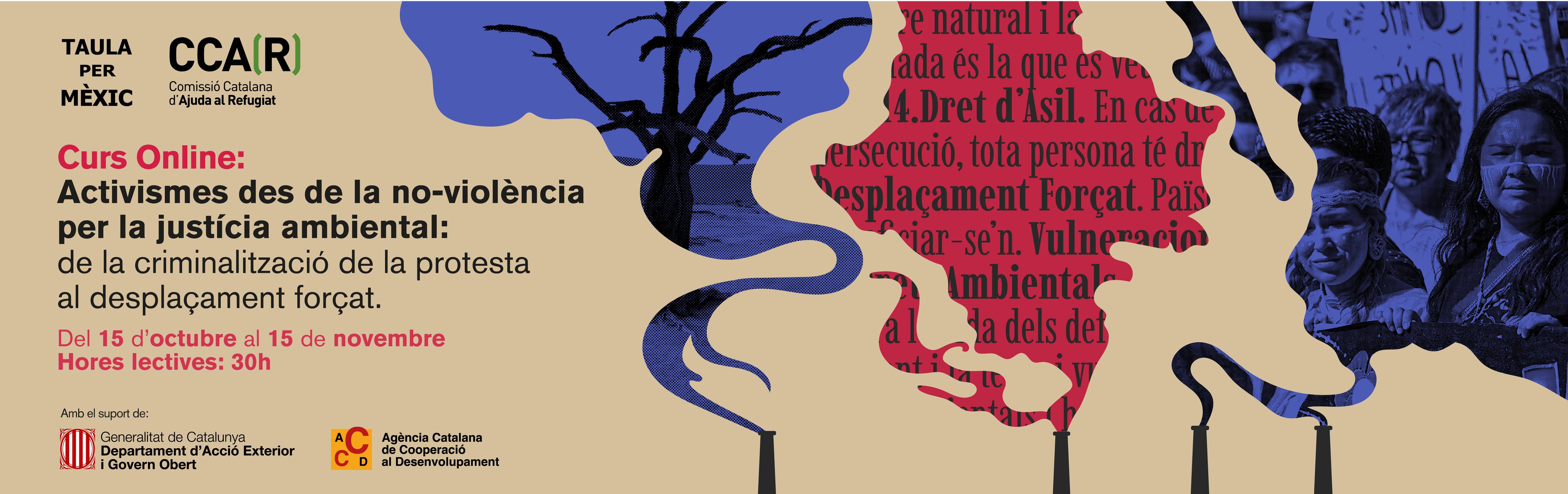Curs Online: Activismes Des De La No-violència Per La Justícia Ambiental: De La Criminalització De La Protesta Al Desplaçament Forçat