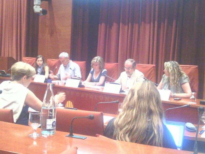 La CCAR Ha Comparegut Al Parlament De Catalunya