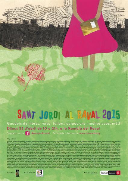 Sant Jordi A La Rambla Del Raval